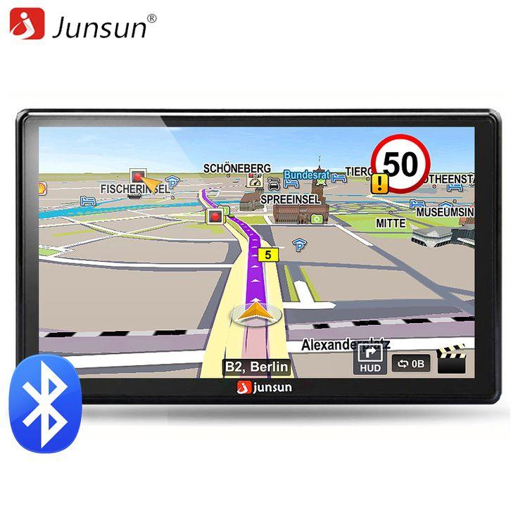 ==> [Free Shipping] Buy Best Junsun 7 inch HD Car GPS Navigation FM Bluetooth AVIN Map Free Upgrade Navitel Europe Sat nav Truck gps navigators automobile Online with LOWEST Price | 2046114448