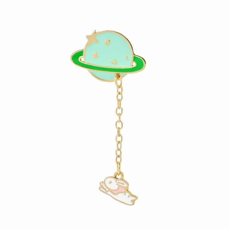 0.99$  Buy here - Galaxy Saturn Planet Astronaut Rabbit Brooch Pins With Chain Lovers Unisex Jewelry Colorful Hard Enamel Broches   #buychinaproducts