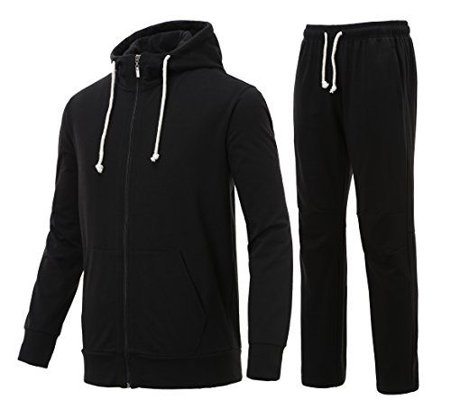 Majeclo Men's Premium Athletic Soft Sweat Hoodie Sweatpan…