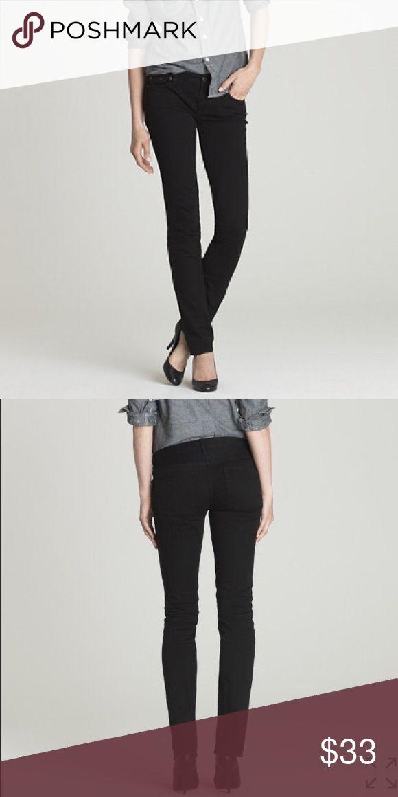 J. Crew Matchstick Black Denim Jeans Size 28S. On website now for $98.                       https://www.jcrew.com/p/19681 J. Crew Jeans Straight Leg