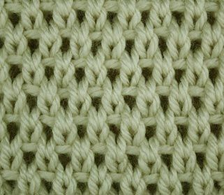 This site is cool, shows you how to knit different stitches, regardless of your pattern. This is the Eyelet Moss Stitch