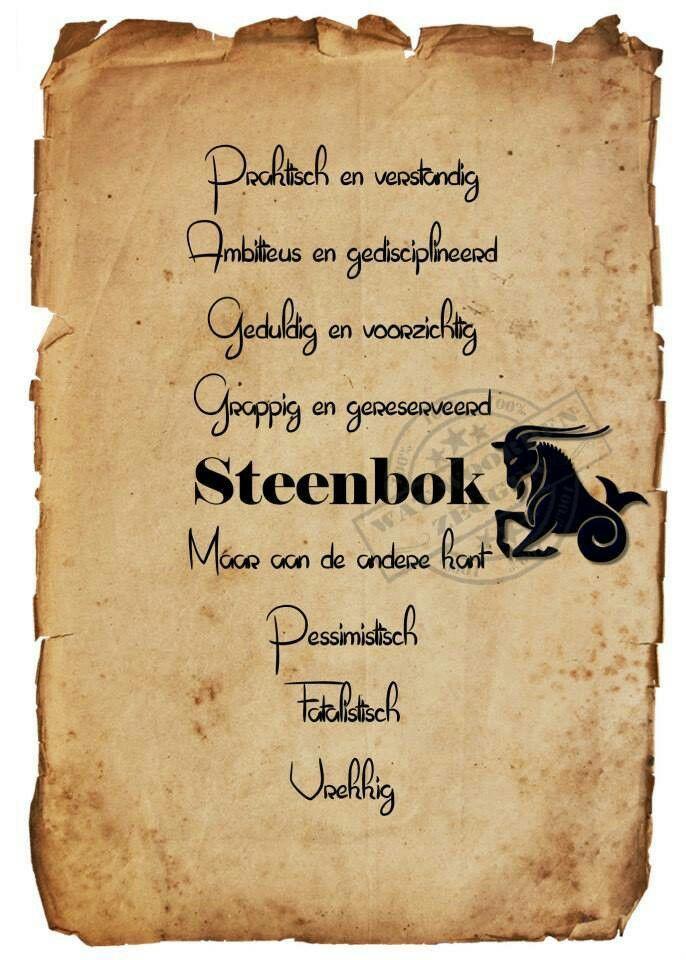 Steenbok-21-12 t/m 19-01