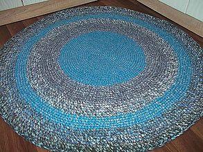 - koberec okruhly-modro sedy - 5663776_