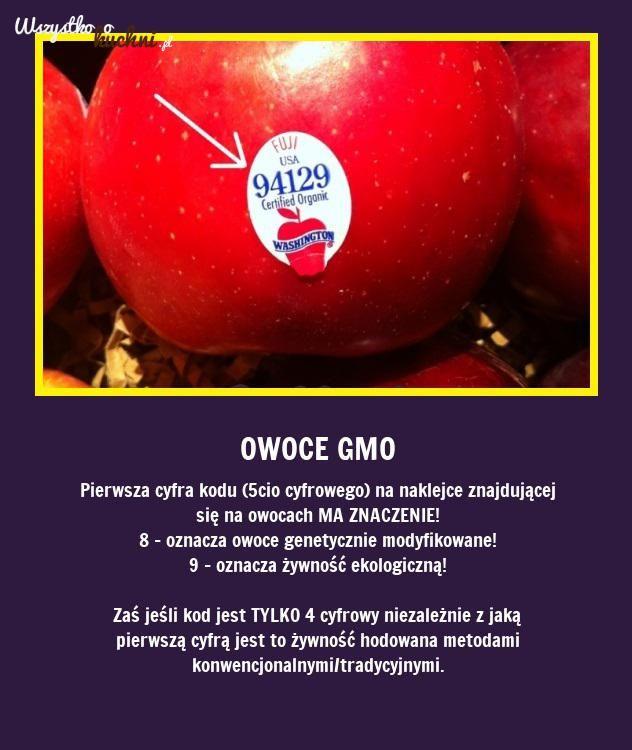 Jak poznać czy to owoce GMO? Podpowiadamy!!!