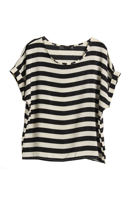 ROMWE: Pink Shorts, Oversized Stripes, Over Stripes, Stripes Black, Bold Stripes, Covet Style, Black And White, Double Stripes, Black T Shirts