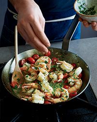 Jumbo Shrimp with Garlic and Chile Butter Recipe on Food & Wine
