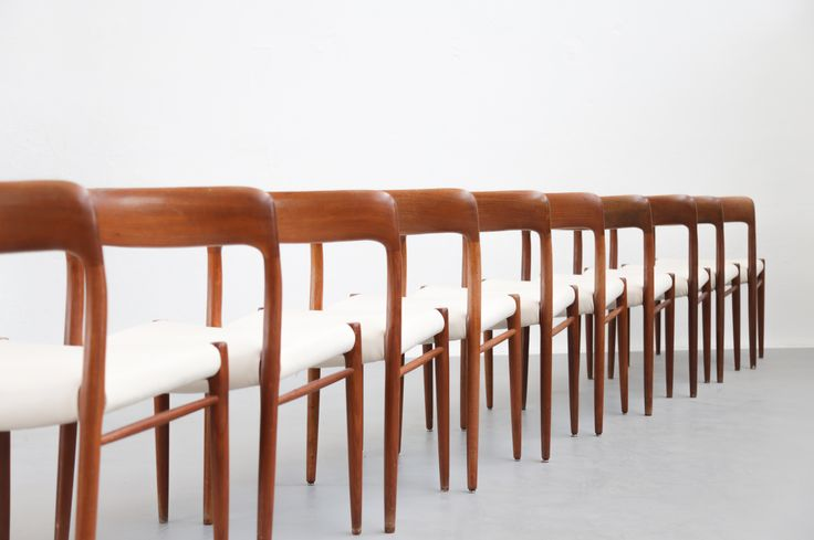 10 chaises danoise Niels O. Moller teck model 75 - Danke GalerieDanke Galerie