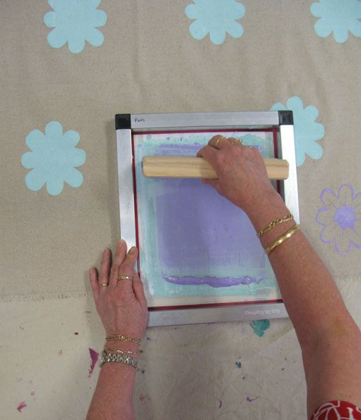 Screen Printing with Saffron Craig ~ Threading My Way