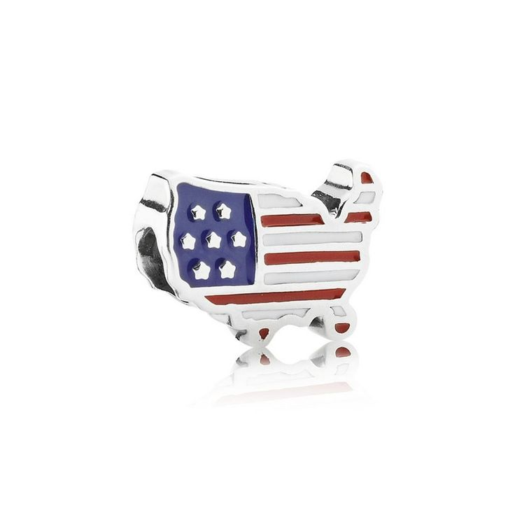 U.S.A., Red, White & Blue - Pandora Charm