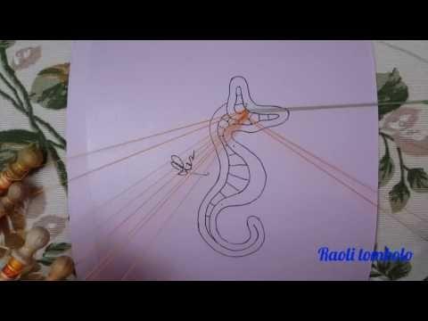 Merletto a Tombolo - Progetto Cavalluccio Marino : 1a parte - inizio