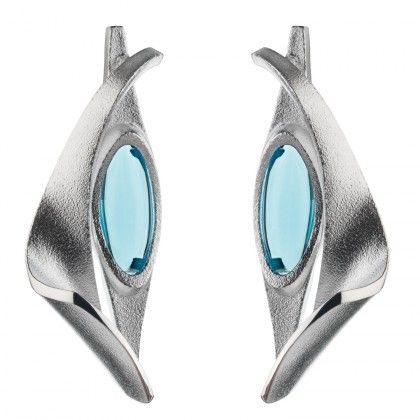 Blue Wave earring silver Design Pekka Hirvonen  / Lapponia Jewelry / Handmade in Helsinki