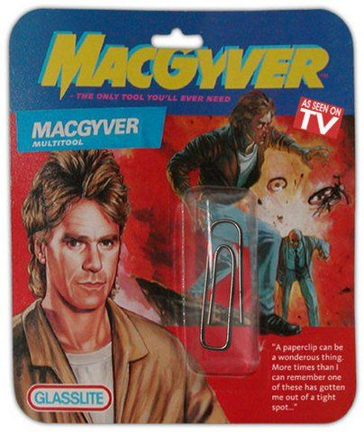 (D) MacGyver - pour rire :-) #UneSource: Duct Tape, Tools, Paper, Macgyv Multitool, Toys, Comic Book, Funny Stuff, White Elephants, Stockings Stuffers