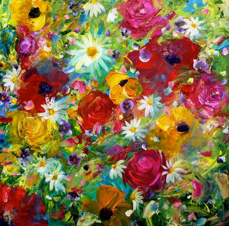 Best 25 acrylic painting flowers ideas on pinterest for Painting large flowers in acrylic
