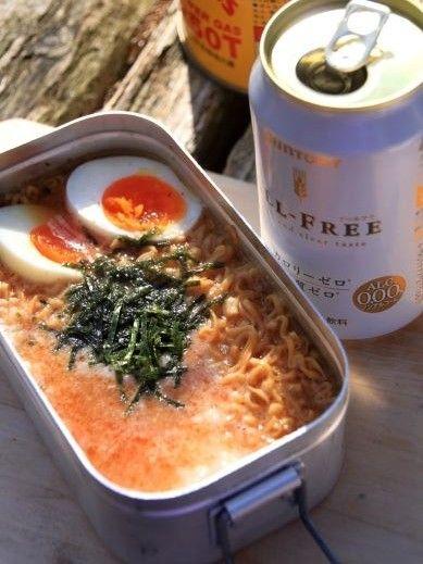 チキンラーメン:山めし礼讃 - 山料理 山ごはんレシピの記 - 明太とろろチキラー