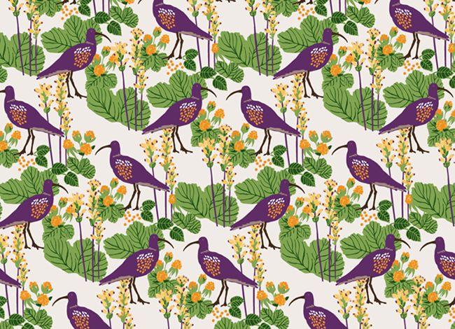 Pattern Västerbotten, design Kajsa Nilsson. www.kajsaform.se