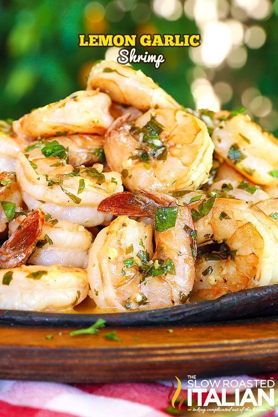 Lemon-garlic shrimp is bursting with flavor, truly better than any restaurant. A one-skillet meal, made in just 20 minutes, this is a recipe you are not going to want to pass up. A silky lemon butter sauce is served over these succulent shrimp, cooked jus