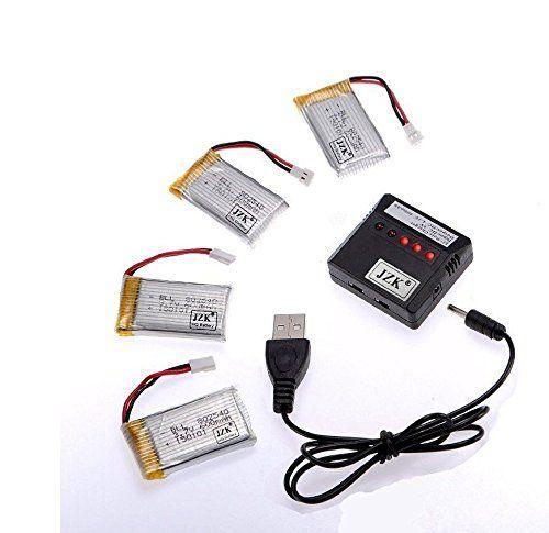 nice JZK® 5x Actualizados Baterías 3.7V 600mAh 25C Lipo +1x cargador (5 en 1)puede cargar 5 pilas al mismo tiempo (Quadcopter no está incluido) Para SYMA X5c 2.4Ghz 4CH 6-Axis Gyro RC Quadcopter 360 ° Cámara HD RTF Drone Explorador X5 X5S X5c-1 X5A Quadcopter Precio e informacion en la tienda:...