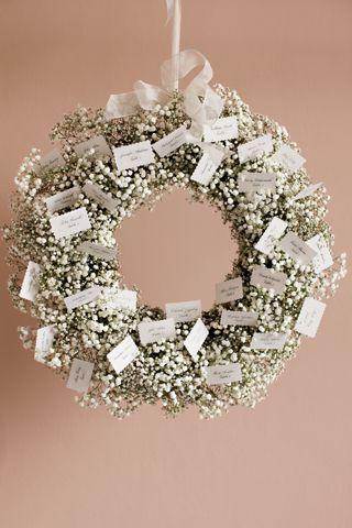 Fl Wreath Wedding Table Plan Bridesmagazine Co Uk