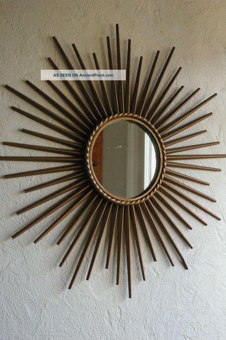 Vintage Sunburst Starburst Mirror Chaty Vallauris