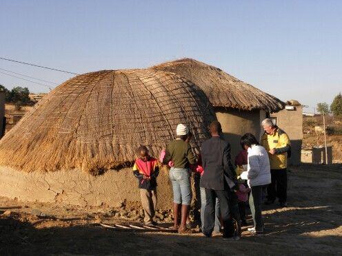Plattelandse Zulu woning omgeving Drakensberg