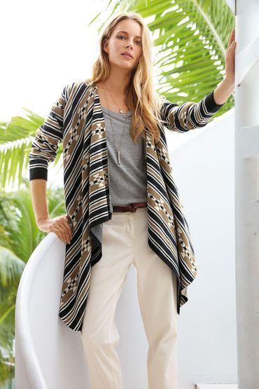 Buy Next Statement Waterfall Cardigan | Shop Tops Womenswear at the BrandStore EziBuy NZ