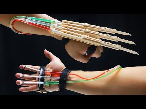 X-MEN WOLVERINE Claws fully automatic DIY tutorial - Popsicle sticks - YouTube