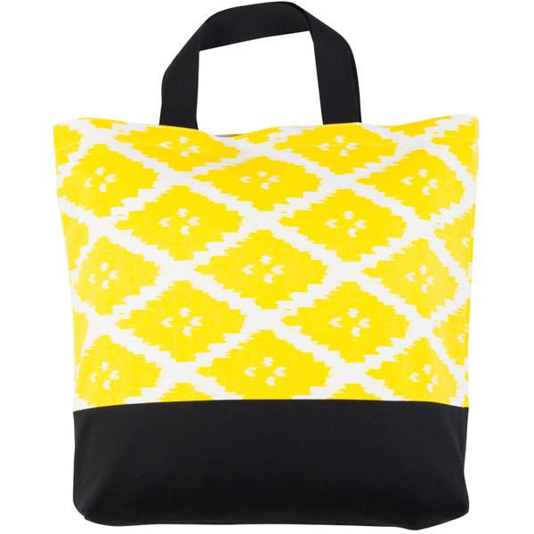 bococo naga yellow shopper ($39) ❤ liked on Polyvore featuring bags, handbags, tote bags, yellow, shopping tote bags, beach handbags, shopping bag, yellow tote bag and shopping tote