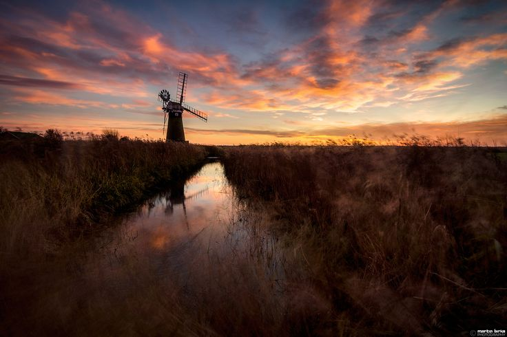 Sunday's sunset at St Benet's Mill near Ludham on the Norfolk Broads.   (C) Martin Birks. Do not use without my permission.  www.martinbirksphotography.co.uk