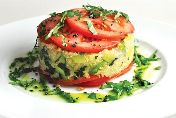 Quinoa, tomato, zucchini