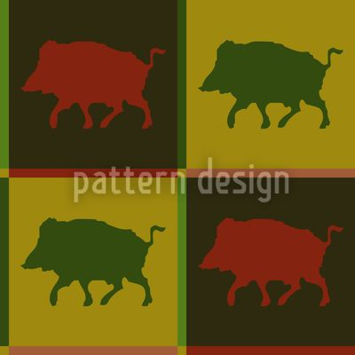 Wild Boar Territory designed by Kerstin Nolte available on patterndesigns.com