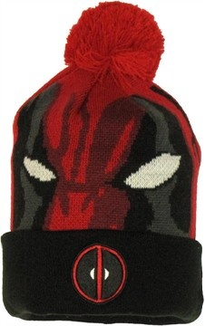 Featured Item - Deadpool Woven Head Cuff Beanie