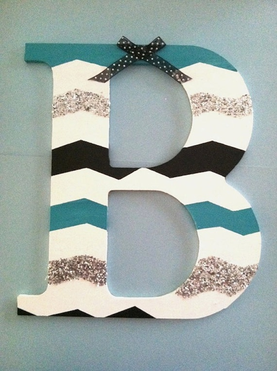 Chevron Painted Block Letters