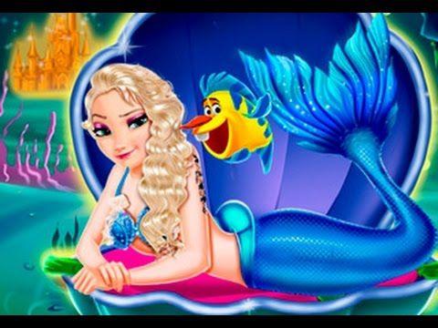 Frozen Princess Elsa Mermaid Dress Up Games - Frozen Full Movie inspired...