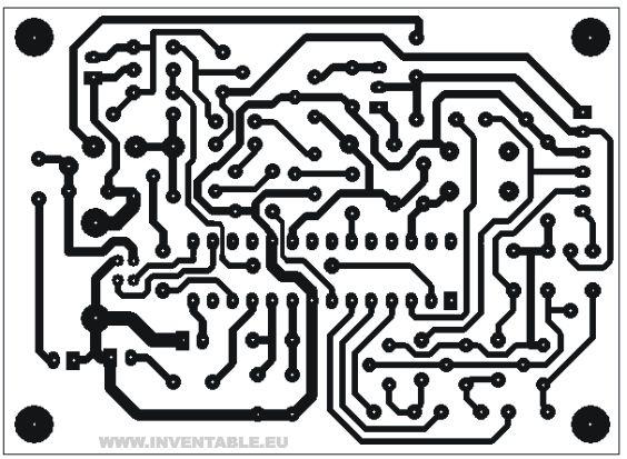 circuito impreso del programador de pics