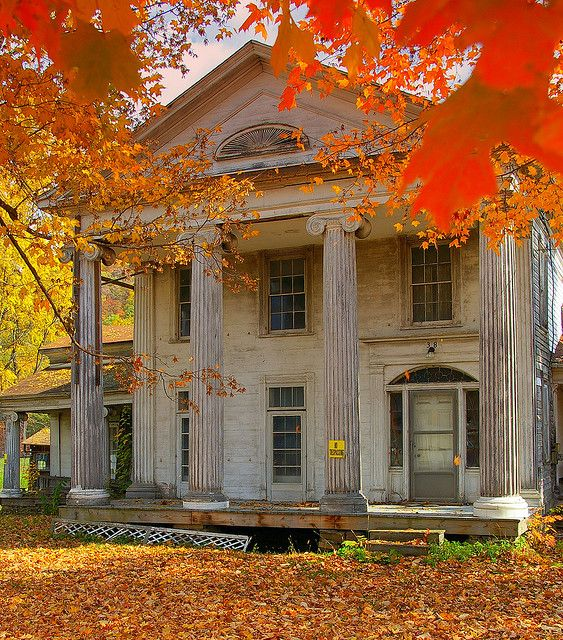 Abandoned Mansion along old U.S. Route 15, between Mansfield, PA and Corning, NY. I love the gorgeous fall foliage in this picture! The photographer encountered a man looking the house over while he was there who turned out to be in the house restoration business. The man told him that this house would cost about $200,000 to restore.