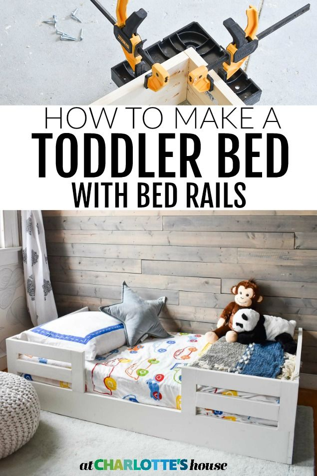 How To Build A Toddler Bed With Bed Rails Diy Toddler Bed Diy Kids Bed Toddler Bed Boy