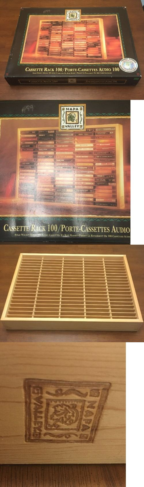 Media Cases and Storage: Vintage 1989 Napa Valley Box 100 Cassette Tape Rack New Tower Records New! -> BUY IT NOW ONLY: $49.99 on eBay!