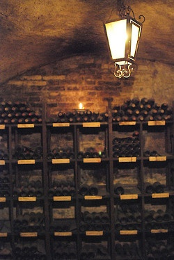 Out of a well, but still locked into the wine cellar under the Great Hall.  Wine cellar by saxcubano