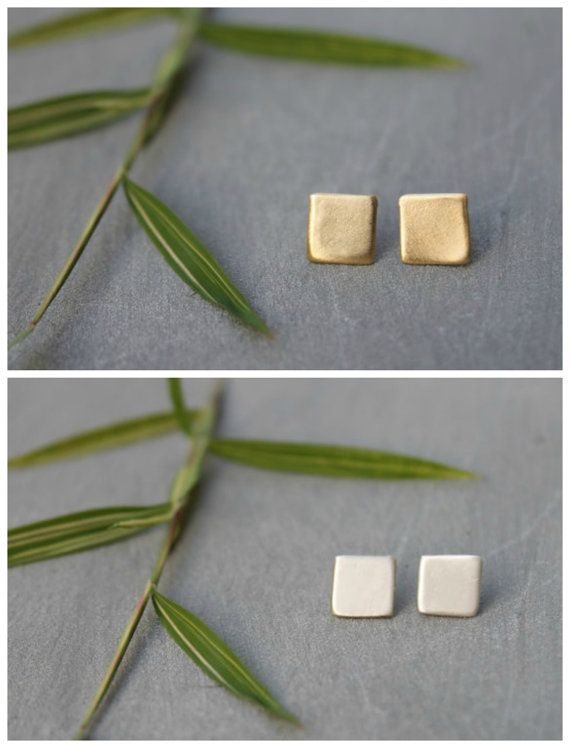 Hey, I found this really awesome Etsy listing at https://www.etsy.com/uk/listing/235342906/square-stud-earrings-dainty-gold-stud