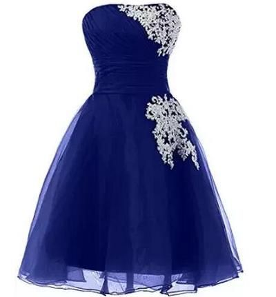 Homecoming Dress, Sexy Royal Blue Homecoming Dresses,Backless Prom