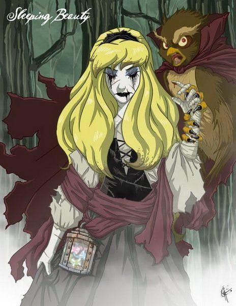 Las princesas disney más siniestras jamás dibujadas ☂ ✿  ✿. ✿