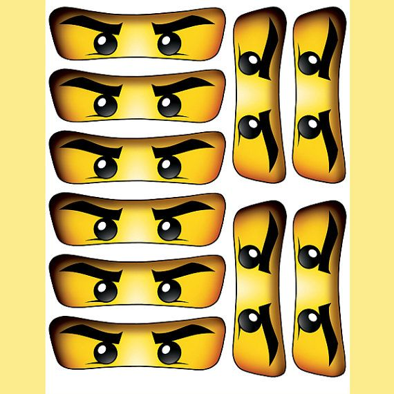 Instant Download Ninjago Eyes 5 Inch For Balloon By Essu50