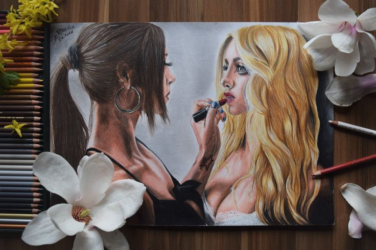 Diana Melison and Katarina Pudar drawing