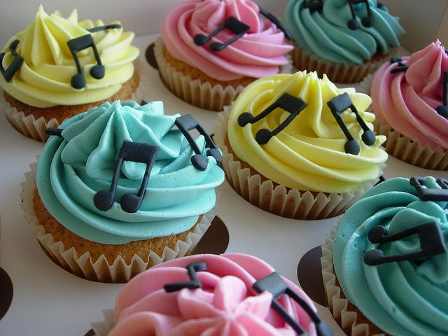 Musical Note Cupcakes | Fantasy Cupcakes | Flickr