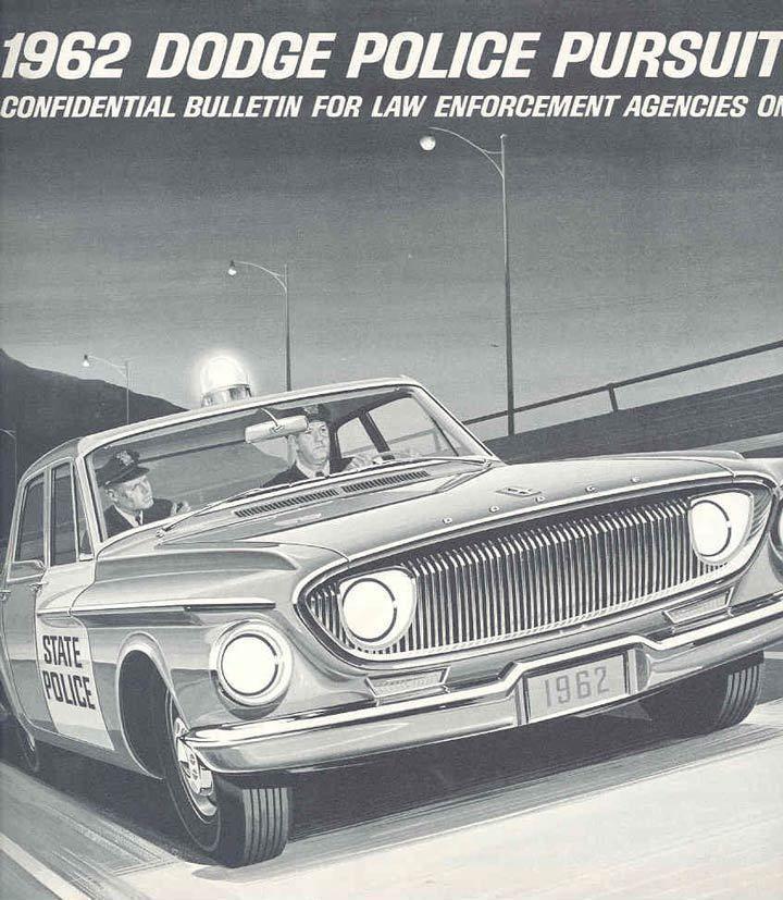 1962 dodge police car 60s police ads vintage police or. Black Bedroom Furniture Sets. Home Design Ideas