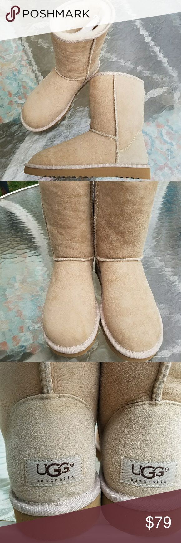 UGG Classic Short Boots Sand NEW Brand new.  I just don't have the box.  Size 7. 1st generation,  really you can almost say these are vintage, lol.  That's why the bottoms are different. If any questions please ask. UGG Shoes Winter & Rain Boots
