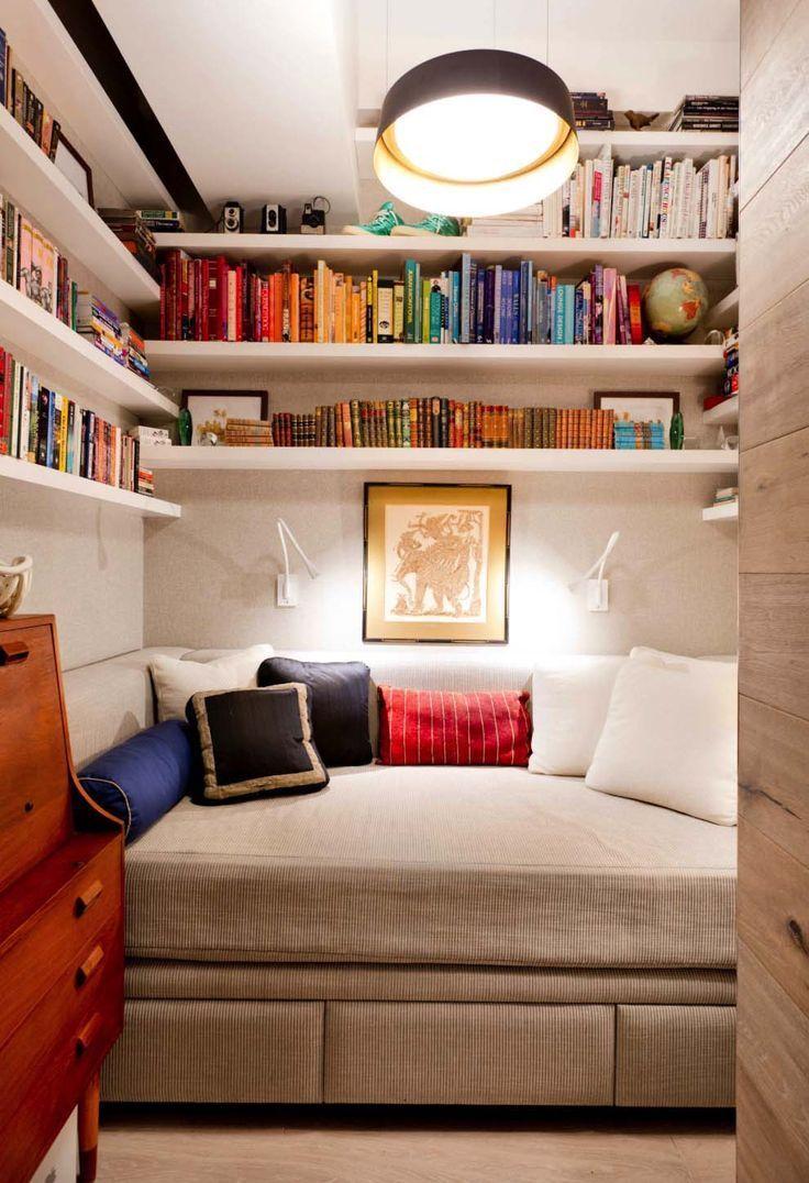Hidden Daybed Bookshelves Tiny Bedroom HomeDecorBedrooms