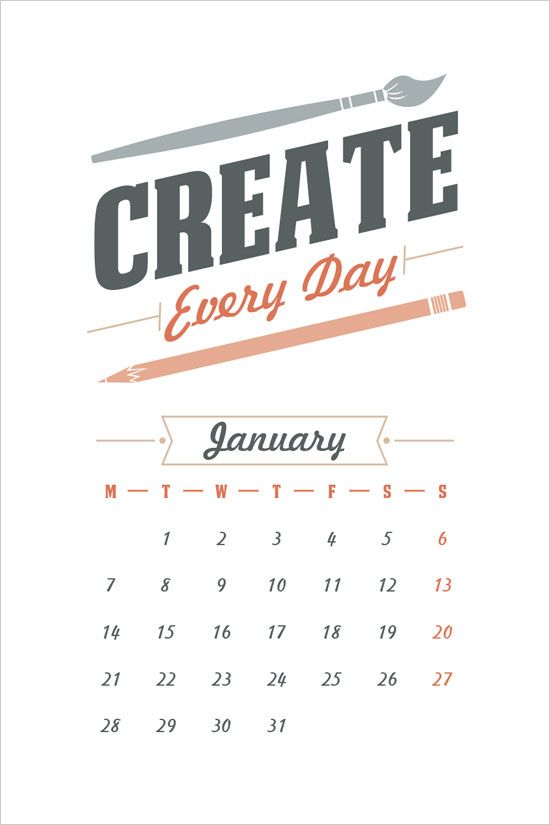 Free Printable 2013 Calendar from Design Bolts- Friday Favorites