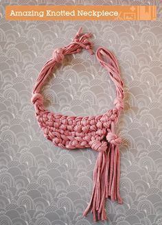 This chunky knotted neckpiece is a fun and unique accessory that can turn an ordinary outfit into something special. It's less complicated that you might think and y