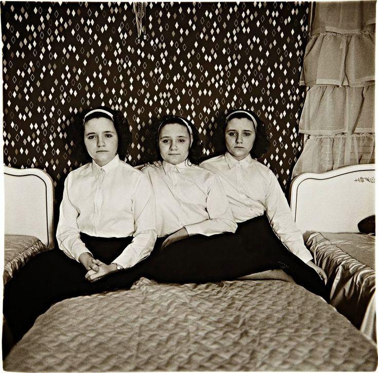 Diane Arbus, Triplets in their Bedroom, New Jersey, 1963  p.21